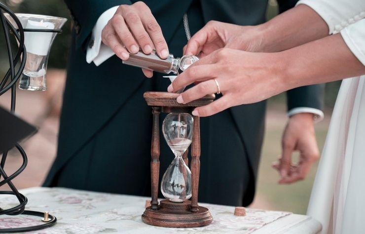 ceremonia del reloj de arena. rituales boda