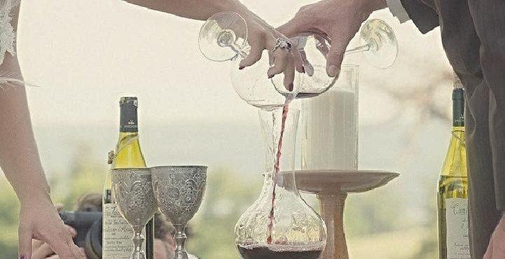 ceremonia del vino. rituales boda