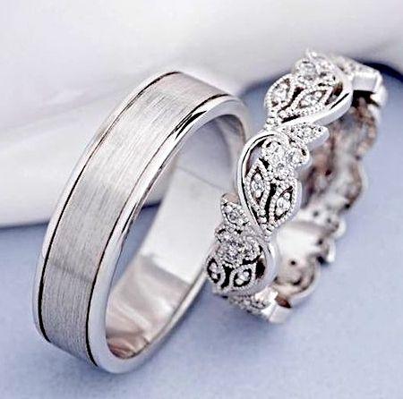 anillos de plata boda civil