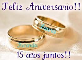 aniversario de bodas 15 años