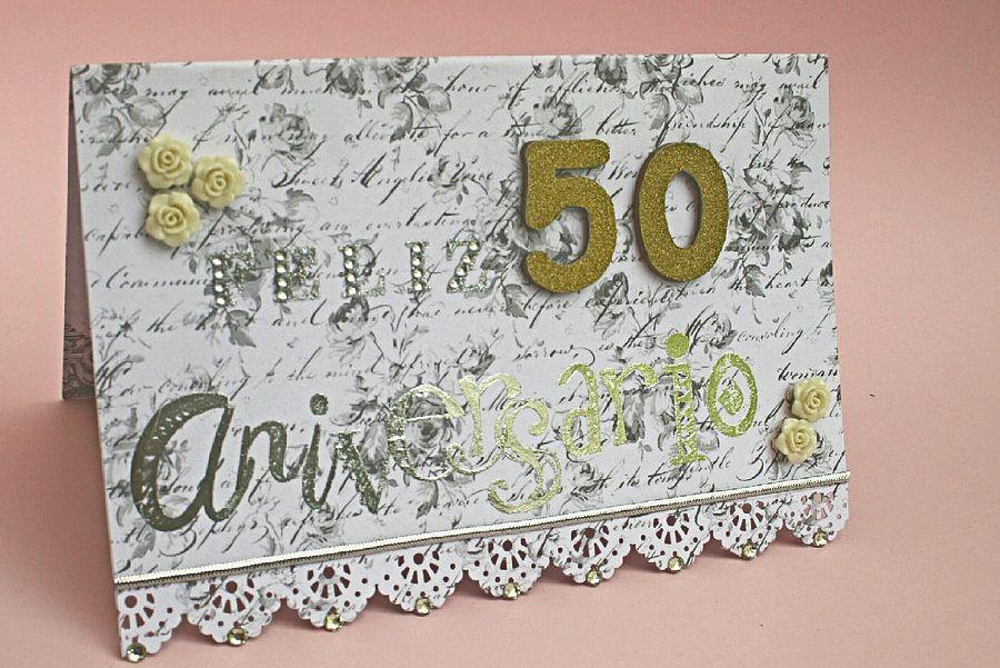 tarjetas bodas de oro